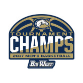 Small Decal-Big West Mens Basketball Tournament Champions, 6 inches Wide