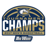 Extra Large Decal-Big West Mens Basketball Tournament Champions, 18 inches wide