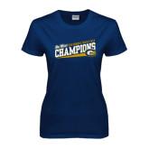 Big West Ladies Navy T Shirt-2016 Womens Track & Field - UC Davis