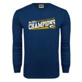 Big West Navy Long Sleeve T Shirt-2016 Womens Track & Field - UC Davis