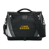 Slope Black/Grey Compu Messenger Bag-UC DAVIS Aggies