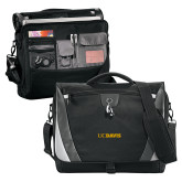Slope Black/Grey Compu Messenger Bag-UC DAVIS