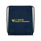 Navy Drawstring Backpack-College of Engineering