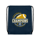 Navy Drawstring Backpack-2018 Big Sky Conference Champions