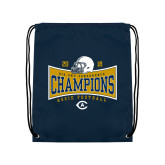 Navy Drawstring Backpack-2018 Football Conference Champions