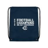 Navy Drawstring Backpack-2018 Big Sky Football Champions