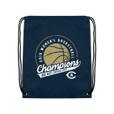 Navy Drawstring Backpack-2019 Womens Basketball Big West Champions