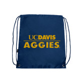 Navy Drawstring Backpack-UC DAVIS Aggies