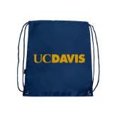 Navy Drawstring Backpack-UC DAVIS