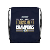 Nylon Navy Drawstring Backpack-Big West Mens Basketball Tournament Champions