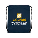 Navy Drawstring Backpack-Graduate School of Management Stacked