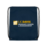 Navy Drawstring Backpack-Graduate School of Management Flat