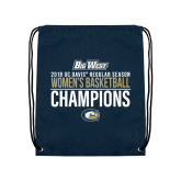 Navy Drawstring Backpack-2018 Regular Season Womens Basketball Champions