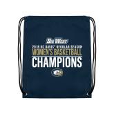 Navy Drawstring Backpack-2018 Regular Season Womens Basketball Champions