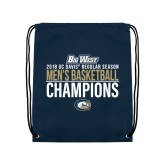 Navy Drawstring Backpack-2018 Regular Season Mens Basketball Champions