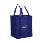 Non Woven Navy Grocery Tote-UC DAVIS Aggies