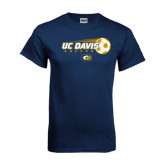 Navy T Shirt-Soccerball with Flying Ball