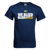 Navy T Shirt-We Bleed