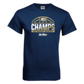 Navy T Shirt-Big West Conference 2017 Regular Season Womens Basketball Champs
