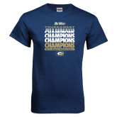 Navy T Shirt-Big West Mens Basketball Tournament Champions