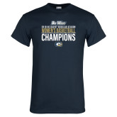 Navy T Shirt-2018 Regular Season Womens Basketball Champions