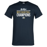 Navy T Shirt-2018 Regular Season Mens Basketball Champions