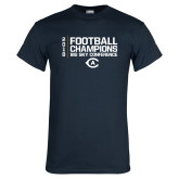 Navy T Shirt-2018 Big Sky Football Champions