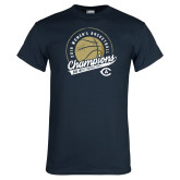 Navy T Shirt-2019 Mens Basketball Big West Champions