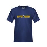 Youth Navy T Shirt-Aggie Pride w/ Tagline