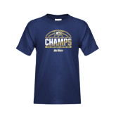 Youth Navy T Shirt-Big West Conference 2017 Regular Season Womens Basketball Champs