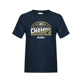 Youth Navy T Shirt-Big West Mens Basketball Tournament Champions