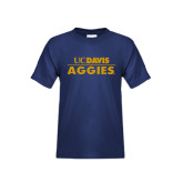 Youth Navy T Shirt-UC DAVIS Aggies