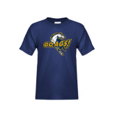 Youth Navy T Shirt-Go Ags Logo