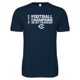 Next Level SoftStyle Navy T Shirt-2018 Big Sky Football Champions