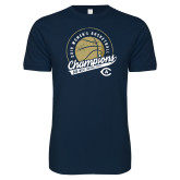 Next Level SoftStyle Navy T Shirt-2019 Mens Basketball Big West Champions