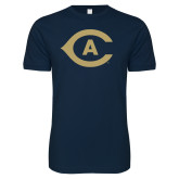 Next Level SoftStyle Navy T Shirt-Secondary Athletics Mark