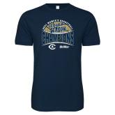 Next Level SoftStyle Navy T Shirt-UC Davis 2021 Womens Basketball 5X Regular Season Champions