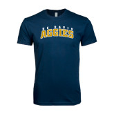 Next Level SoftStyle Navy T Shirt-Arched UC Davis Aggies