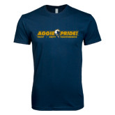 Next Level SoftStyle Navy T Shirt-Aggie Pride w/ Tagline