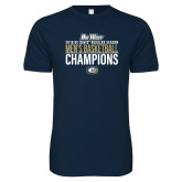 Next Level SoftStyle Navy T Shirt-2018 Regular Season Mens Basketball Champions
