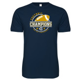 Next Level SoftStyle Navy T Shirt-2018 Big Sky Conference Champions