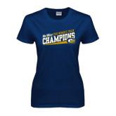 Ladies Navy T Shirt-2016 Big West Champions Womens Track