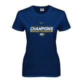 Ladies Navy T Shirt-2016 Division 1 National Champions Womens Rugby