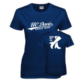 Ladies Navy T Shirt-UC Davis Dance Team