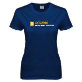 Ladies Navy T Shirt-Veterinary Medicine