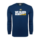 Navy Long Sleeve T Shirt-We Bleed