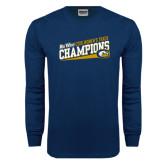 Navy Long Sleeve T Shirt-2016 Big West Champions Womens Track
