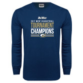 Navy Long Sleeve T Shirt-Big West Mens Basketball Tournament Champions