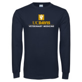 Navy Long Sleeve T Shirt-Veterinary Medicine