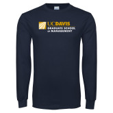 Navy Long Sleeve T Shirt-Graduate School of Management Flat